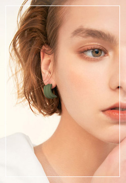 (수입) 레베카 골드그린 귀걸이