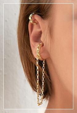 (수입) 라스트체인 귀찌 귀걸이