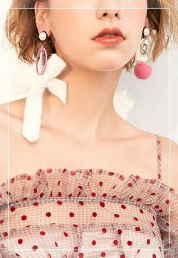 (수입) 뮤크 리본겨울 귀걸이
