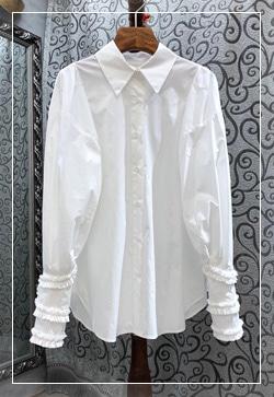 (수입) 맥시플립 슬리브 셔츠