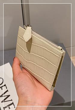 [수입] 미티니 크랙 소가죽 카드지갑
