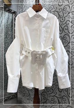 (수입) 메리스 볼륨벨트 셔츠