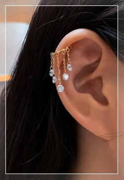 (수입) 앙투와넷 귀찌 이어클립 귀걸이