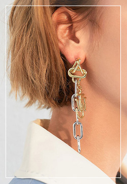 (수입) 켈리 더블유 귀걸이