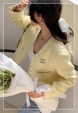 (수입) 레몬옐로우 숏 자켓