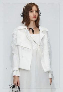 (수입) 꽃캐슬 화이트 자켓
