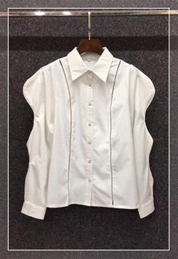 (수입) 스텔라 물결라인 셔츠