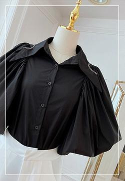 (수입) 마리 벌룬슬리브 셔츠