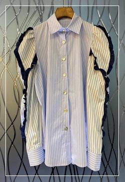 (수입) 앨리스 스트라이프 셔츠