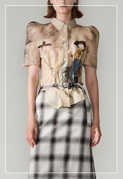 (수입) 내추럴 동양화 셔츠