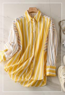 (수입) 스텝옐로우 레몬 셔츠
