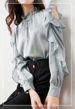 (수입) 럭셔리프릴 봄 셔츠