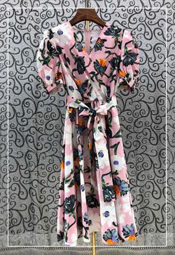 (수입) 에이미 핑크꽃 원피스