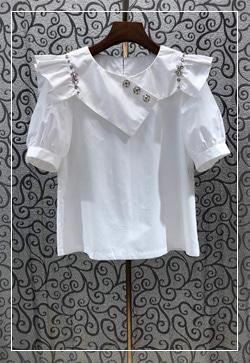 (수입) 에밀리 큐빅 셔츠