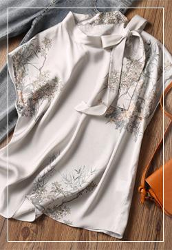 (수입) 실크 사이드타이 셔츠