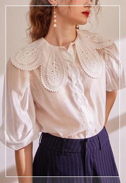 (수입) 뮤크펀칭 셔츠