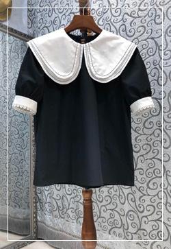 (수입) 앨리스 스티치라인 블라우스 셔츠