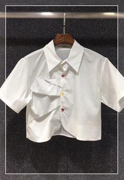 (수입) 다빈치 숏 화이트 셔츠