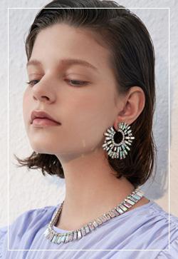 (수입) 오아시스 체인 귀걸이
