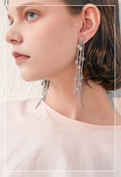 (수입) 헤이즐 드롭큐빅 귀걸이