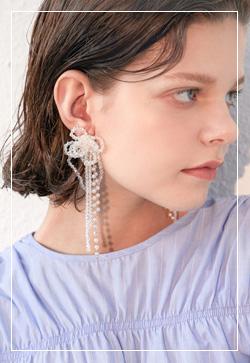 (수입) 체리쉬 드롭비즈 귀걸이