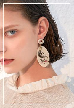 (수입) 여인스케치 귀걸이