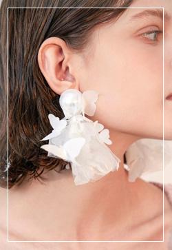 (수입) 나비레이스 메쉬 귀걸이