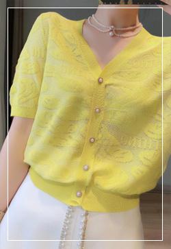 (수입) 메리지 레몬 니트 가디건