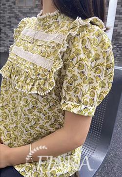 (수입) 블룸스 플라워 블라우스 셔츠