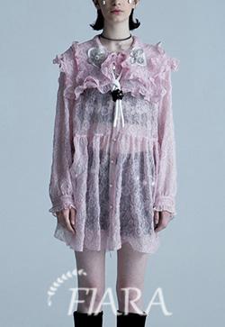 (수입) 케이프 핑크하트 원피스