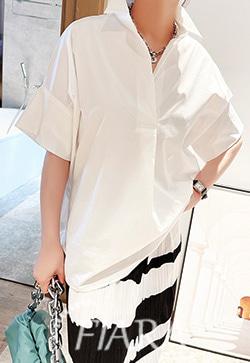(수입) 메르시 넉넉한 화이트 셔츠