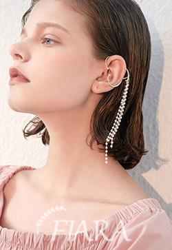(수입) 진주피어 피스 이어커프 귀걸이