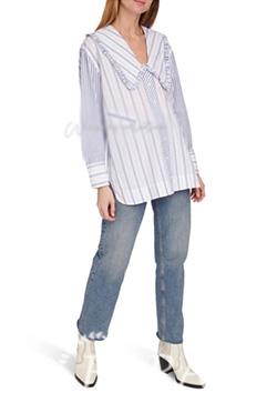 (수입) 모키 스트라이프 셔츠