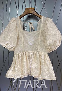 (수입) 넥퍼프 연꽃스윙 셔츠