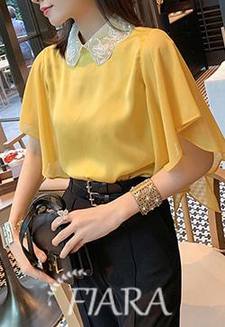 (수입) 펜시 비즈카라 옐로우 셔츠