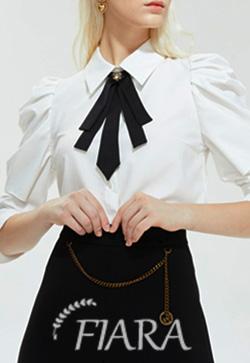 (수입) 마틸다 화이트블랙 셔츠