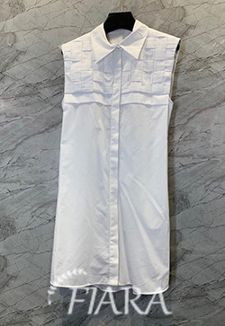 (수입) 미스티 민소매카라 셔츠 원피스