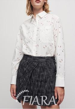 (수입) 마리아 싱글포켓 화이트 셔츠