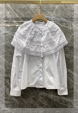 (수입) 베이크화이트 라운드 셔츠
