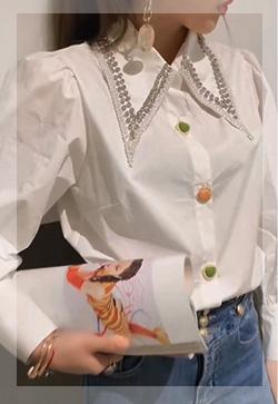 (수입) 헤밍 다이아카라 셔츠