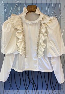 (수입) 스틸라 큐빅프릴 셔츠