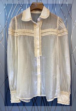 (수입) 시스루 데니아 셔츠