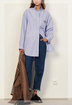 (수입) 세모꽃 프리아 넉넉 셔츠