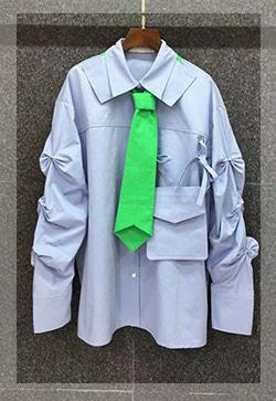 (수입) 연두와 포켓프릴 셔츠