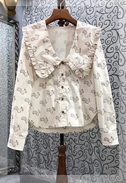 (수입) 다람쥐 프릴셔츠