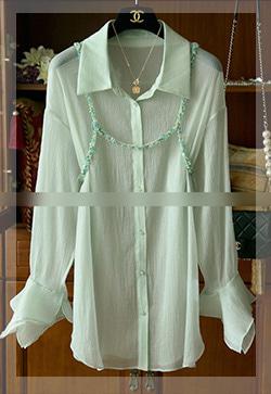 (수입) 판타지 비즈그린 셔츠
