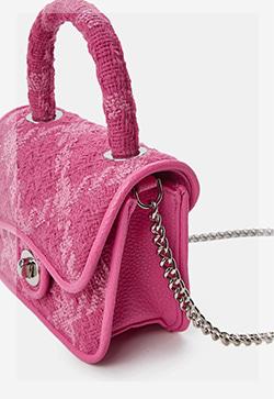 (수입) 브리즈 핑크 트위드 백
