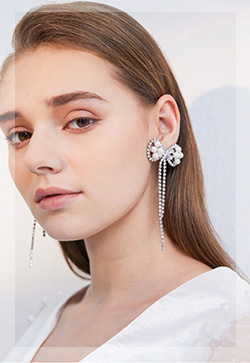 (수입) 아리아 실버리본 귀걸이