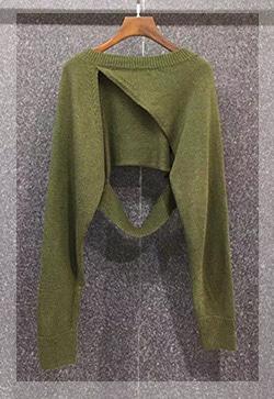 (수입) 아트그린 스웨터 니트 탑