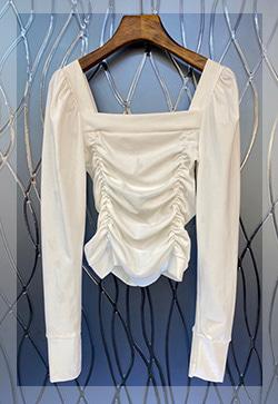 (수입) 로맨티크 스퀘어넥 블라우스 셔츠
